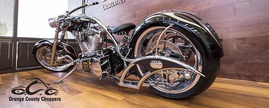 Flow Chopper on display.  Orange County Choppers